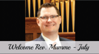 Welcome Reverend Michael Mumme