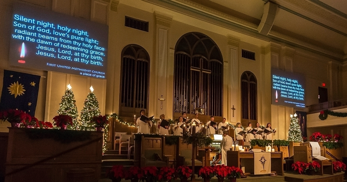 childcare is provided during the 400 pm family service and 600 and 800 pm candlelight services - Christmas Church Service