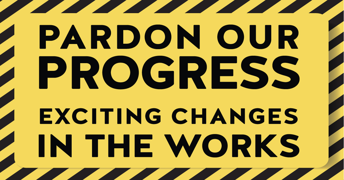 Image result for pardon our progress sign